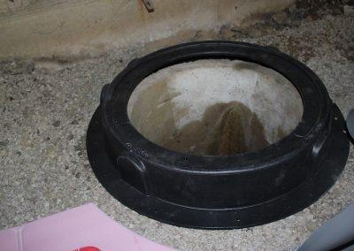 Palatine: Radon sump pit lid installation